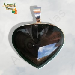 Rainbow obsidian pendant