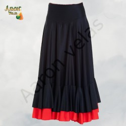 Flamenco skirt two ruffles