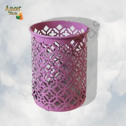 Lilac candle holder