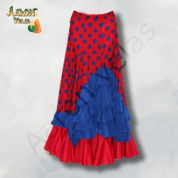 Dark Red and blue flamenco...